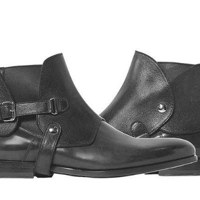 Handmade Men black leather boot, Men biker boot, Mens chelsea boot, Mens boot