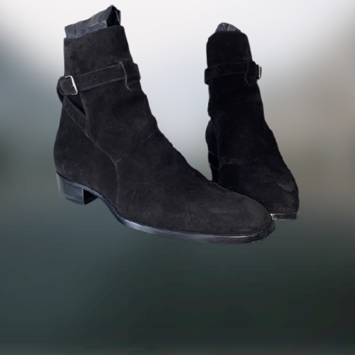 Handmade Men black suede Jodhpurs boots, Mens casual wear ankle boot