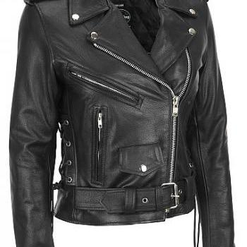 WOMEN MOTORCYCLE REAL LEATHER JACKET