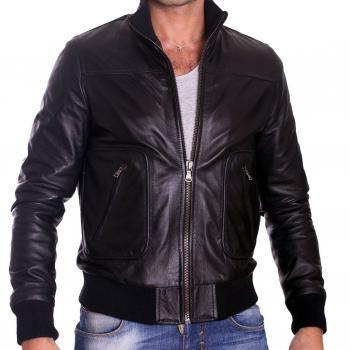 MEN'S LEATHER JACKET, MENS BIKER LEATHER JACKET