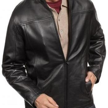MEN BLACK JACKET, LEATHER JACKET MEN'S