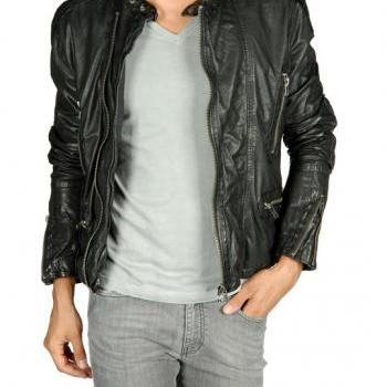 MENS BIKER LEATHER JACKET, LEATHER JACKET MEN'S