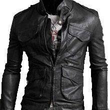 MEN'S BIKER LEATHER JACKET, SLIM FIT LEATHER JACKET MENS, LEATHER JACKET MENS