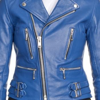 MENS VINTAGE STYLE LEATHER JACKET IN DARK BLUE COLOR, MENS LEATHER ...