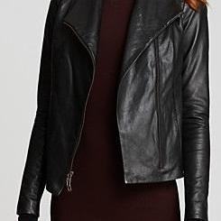 WOMENS BLACK LEATHER MOTO JACKET, BIKER JACKET WOMEN