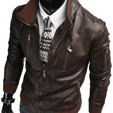 HANDMADE MENS BIKER LEATHER JACKET, MEN BROWN BIKER LEATHER JACKET, SLIM FIT LEATHER JACKETS