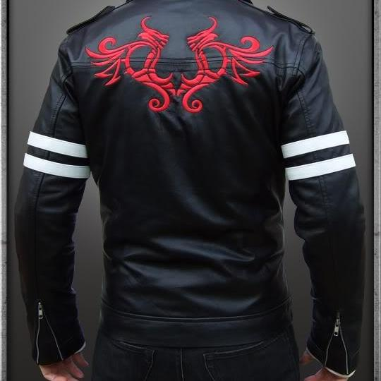 Handmade New Men Stylish Embroidery Leather Jacket, Men leather Jackets