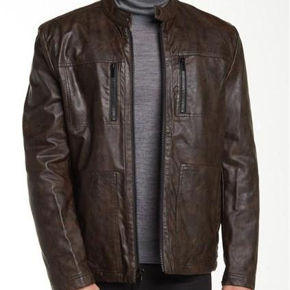 Mens biker leather jacket, Mens fashion brown motorcycle jacket, Mens jacket, Leather jacket mens